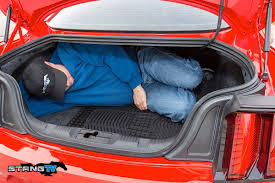 mustang trunk space 2015 mustang daily driver for dads