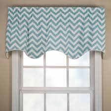 reston chevron scallop valance thecurtainshop com