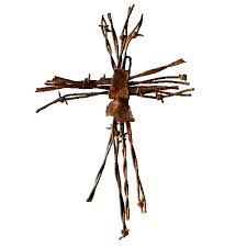 small barbed wire cross with rustic accent cave creek designs