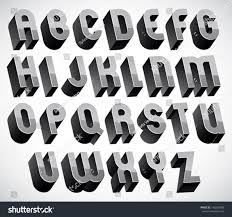 royalty free bold and heavy 3d letters set u2026 140234500 stock