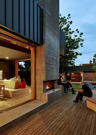 contemporary melbourne home with timber screen by make