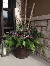 urns outdoors search winter porch pots