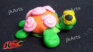 clay modelling learn to make turtle in simple way for kids jk