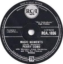 78 rpm perry como magic moments catch a falling rca