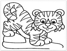 Tiger Coloring Pages Free Printable Picture New Page Without Coloring Pages Tiger