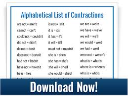 how to teach contractions free downloads