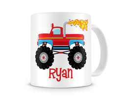 truck boys personalized mugs truck