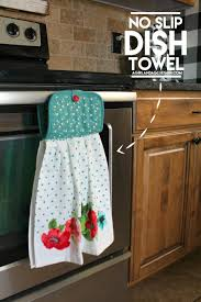 no slip dish towel glue guns towels and dishes