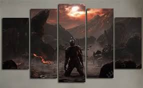 living room canvas 5piece painting wall picture for living room canvas painting dark