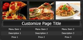 digital signage content templates for menu boards