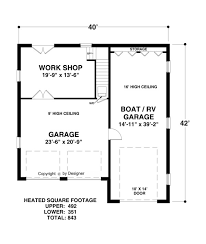 boat rv garage 1753 1 bedroom and 1 5 baths the house designers