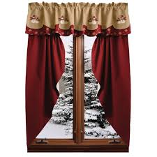 Maroon Curtains Farmhouse Solid Prairie Gathered Curtains Barn Red Country