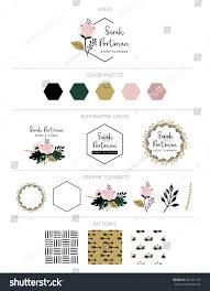 branding design kit logo creator can stock vector 602291147