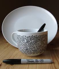 Creative Mug Designs 25 Artistic Baked Sharpie Dish Diy Designs