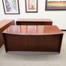 Front Office Desk Used Bow Front Office Desk Credenza Set Mahogany Deu1478 020