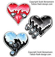 tattoos for women cool peirced heart ideas