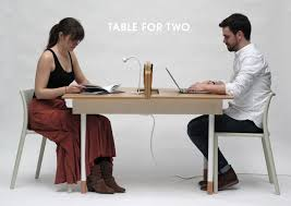 working desk a working desk for two a dining table for six design milk