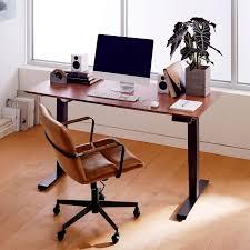 Mid Century Sit Stand Adjustable Desk West Elm