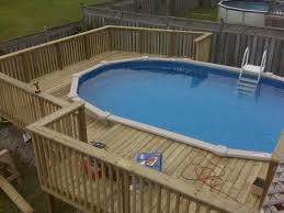 round pool deck on the yard pool deck decorating ideas for with