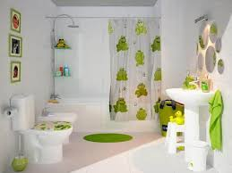 kids bathroom with round mirrors and mounted sink nice