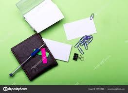 pochette bureau articles de papeterie pour bureau pince notes flans