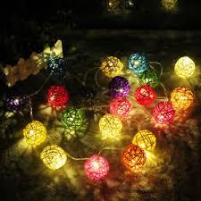 rattan ball fairy lights led rattan ball string lights with plug home garden fairy l