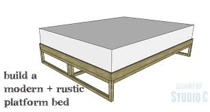 plans for platform bed with storage drawers new woodworking style