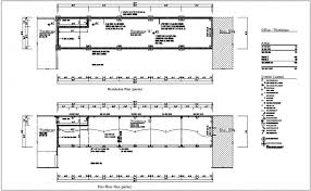 foundation floor plan plan of ware house with floor plan dwg file