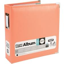 photo album pages for 3 ring binder we r faux leather 3 ring binder 8 5 x11 coral home crafts