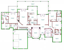 decor sloped lot house plans ranch house plans with walkout