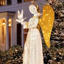 christmas angel improvements 60 christmas angel with dove 7013825 hsn