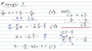 example 3 solving two step equations with fractions