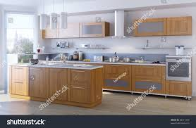 modern kitchen design idea modern kitchen kitchen design idea stock illustration 30411229