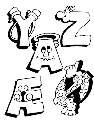 coloriage alphabet alphabet rigolos à colorier allofamille