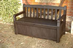 Outdoor Storage Bench Diy by Diy Outdoor Bench With Storage Cushion And Back