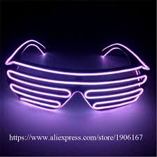 party sunglasses with lights colorful luminous party sunglasses light up el wire growing glasses