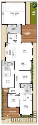 narrow house plans for narrow lots charming narrow lot single storey house plans photos best