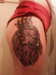 38 best 3d lion tattoo on thighs images on pinterest thighs