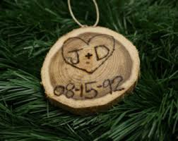 Christmas Ornaments With Initials Wood Burned Initials Etsy