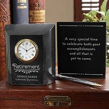 engraved office gifts personalized desk clock retirement gift