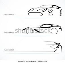 simple car icon silhouette vectors download free vector art