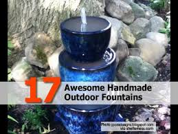 Patio Fountains Diy by 17 Awesome Handmade Outdoor Fountains