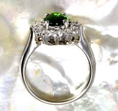 ring diana tsavorite garnet and diamonds princess diana ring r1043