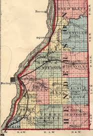 County Map Of Illinois Henderson Co Il Family Page