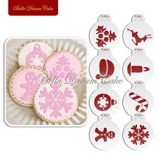 aliexpress com buy 8pcs lots christmas candy decoration stencil