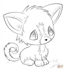 anime dog coloring page free printable coloring pages with regard