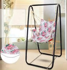 pink flower pattern indoor outdoor hanging hammock chair with