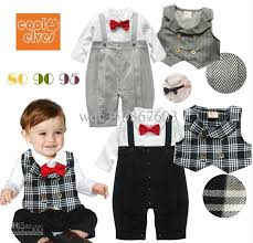 best retail infants baby boy gentleman one romper with plaid
