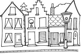 house outline house coloring pages getcoloringpages com