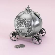 keepsake piggy bank stunning celebrations fairytale coach pewter piggy bank coin box
